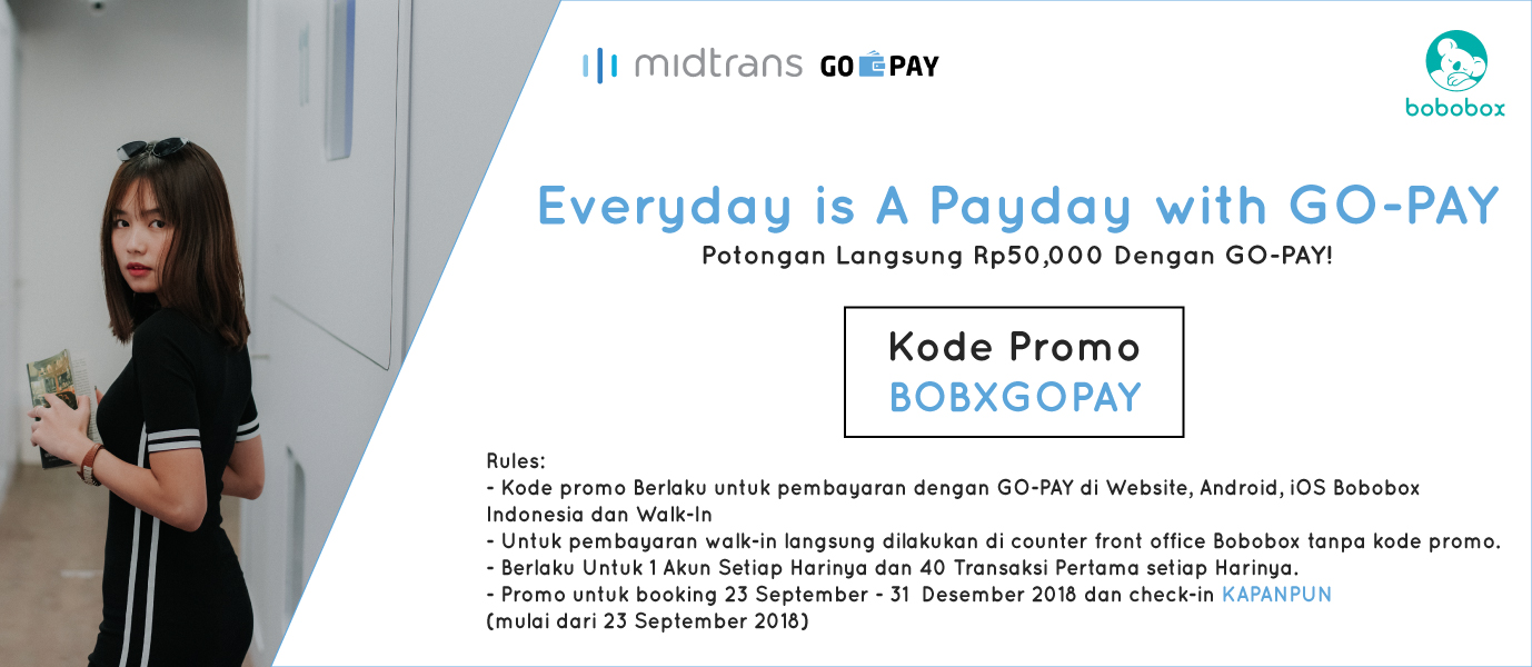 Bobobox Go Pay Promo Everyday Is A Pay Day With Go Pay